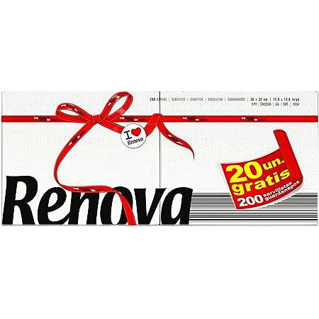 Renova Servilletas de Papel Red Label - 200 servilletas Tamaño Estándar