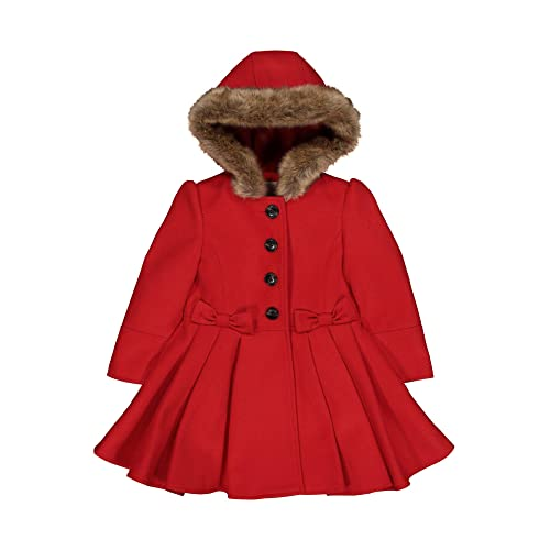 effc271cc86 Mothercare Baby Girls  Wool Swing Coat Red