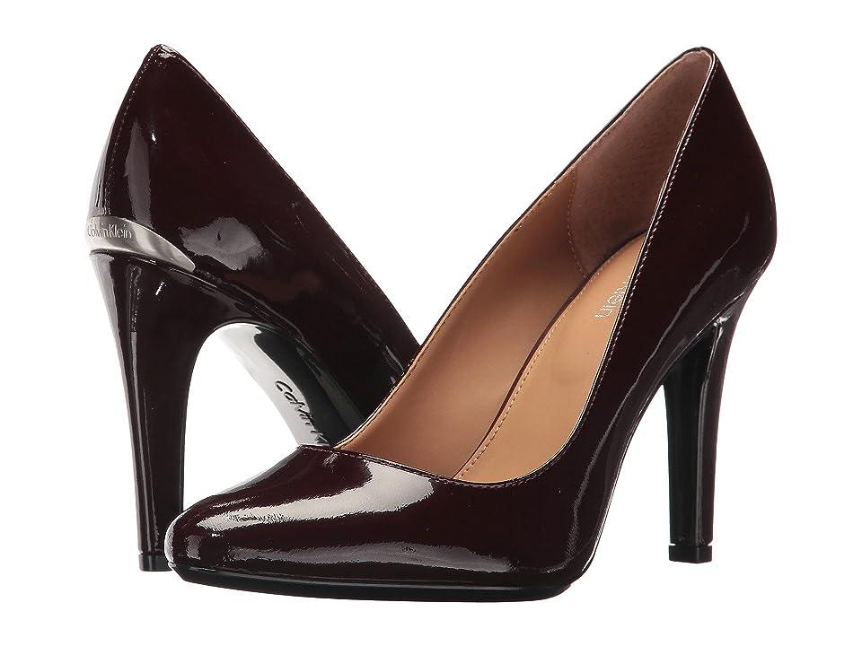 Calvin Klein Cosima (Oxblood Patent) High Heels