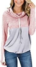 Best pink cowl neck sweatshirt Reviews