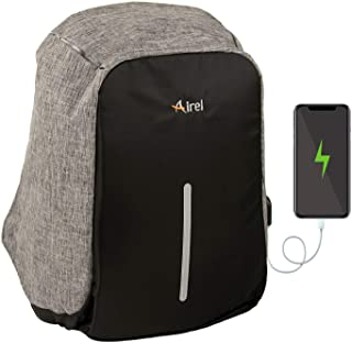 Airel Mochila portátil-Inteligente | Mochila Impermeable para Portátil con Puerto USB | Daypack Portátil Mochila para Ordenador Portátil | Mochila con Cargador | Medidas: 44x31x12 cm. 13 Pulgadas