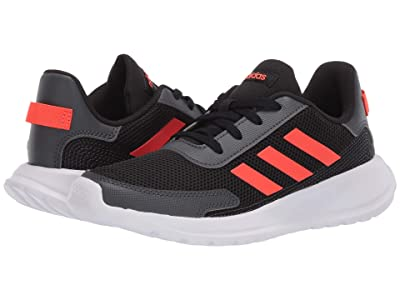 adidas Kids Tensaur Run (Little Kid/Big Kid) (Black/Solar Red/Grey) Boy
