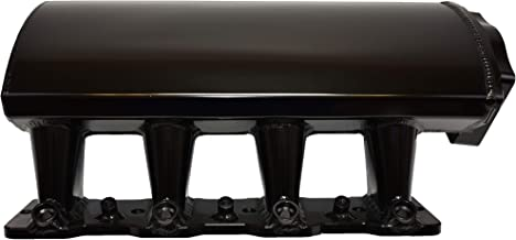 A-Team Performance Short Fabricated Intake Manifold Compatible with LS LSX LS LS1 LS2 LS6 EFI 7° Throttle Opening (BLACK)