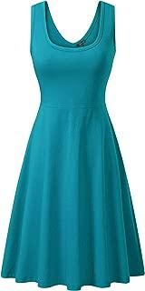 FENSACE Women's Sleeveless Midi Dress Casual Flared Tank Dress