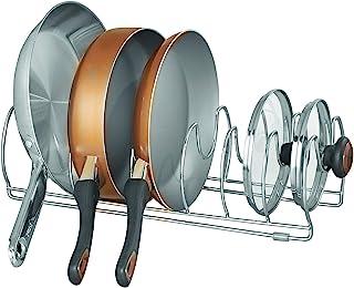 Bosphorus InterDesign Classico Kitchen Cabinet Storage Organizer For Skillets, Pans, 43.18cm, Chrome