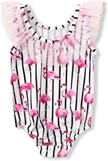 YOUNGER TREE Toddler Kids Girls Swimsuits Colorful Cartoon Donuts Swimwear Hollow Back Bathing Suits Tankini Beachwear Summer