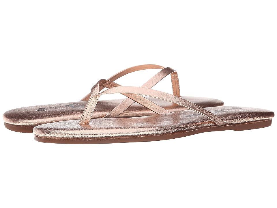 Yosi Samra Roee Metallic Leather Flip Flop (Rosegold) Women