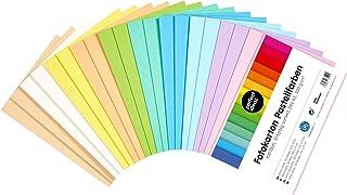perfect ideaz 100feuilles de carton photo pastel DIN-A5, carton de bricolage, teinté dans la masse, en 10coloris différe...