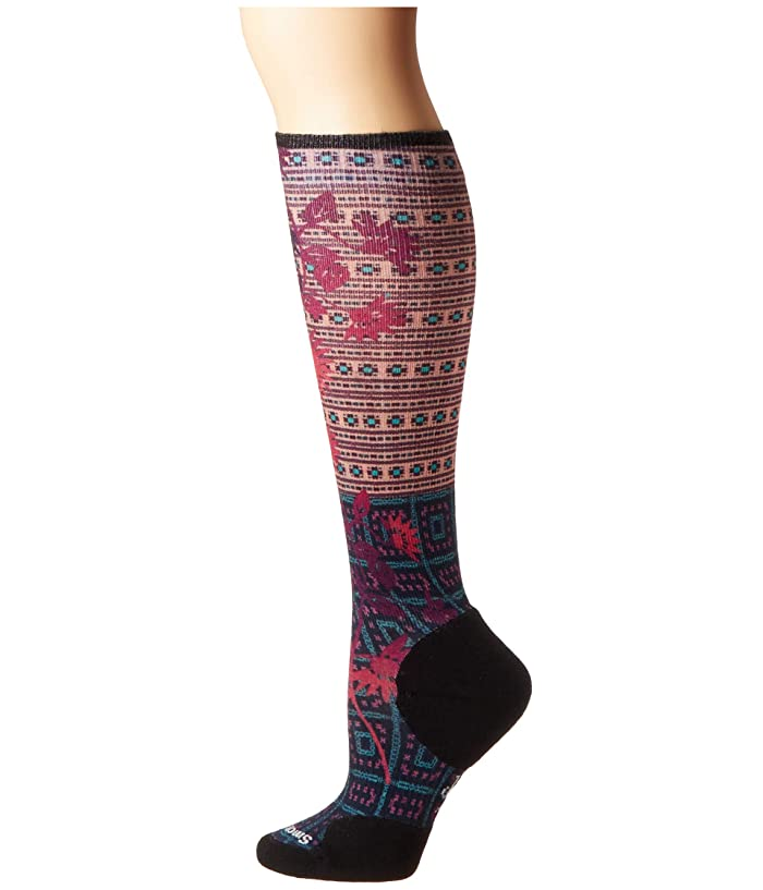 Smartwool  Compression Sightseeing Sunflower Print OTC (Deep Navy) Womens Crew Cut Socks Shoes