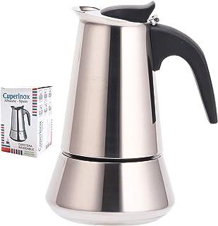CUPERINOX Cafetera italiana inducción | 2 tazas | cafetera express para placas y vitroceramicas inducción | acero inoxidab...