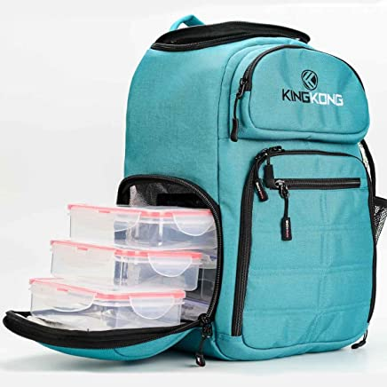 King Kong Fuel Meal Prep Backpack - Insulated Thermal Polyester Lunch Bag, Military Spec Nylon with Two Reusable Ice Packs