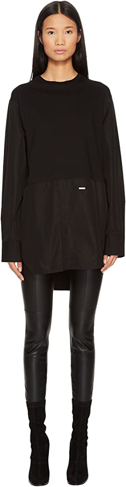DSQUARED2 - Jersey Amish High-Low Long Sleeve T-Shirt