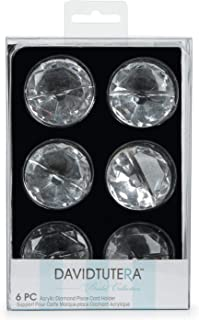 Darice Bulk Buy DIY David Tutera Place Card Holder Acrylic Diamond 1.5 x .75 inches 6 Pieces (3-Pack) DT6632B
