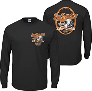 Smack Apparel San Francisco Baseball Fans. San Francisco: A Drinking Town with a Baseball Problem. Black T Shirt (Sm-5x)
