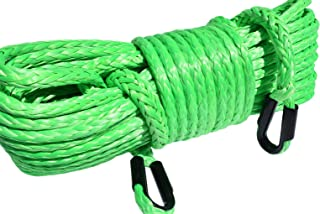 1/2inch Synthetic Winch Cable UHMWPE Winch Rope Extension UHMWPE Rope Towing Ropes (1/2'150ft, Green)