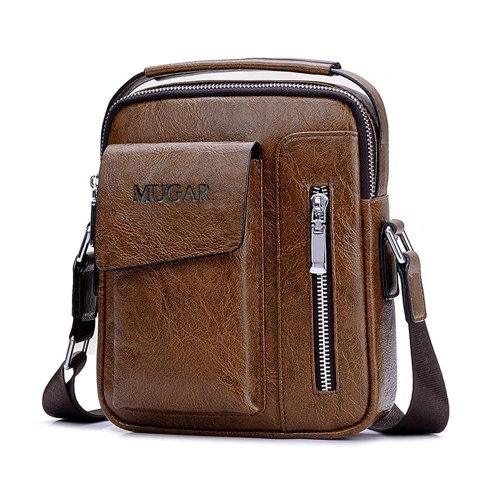 キャラクターオフスプレーFANDARE ショルダーバッグ メンズ 紳士用 斜め掛けバッグ ハンドバッグ iPad対応 人気 肩掛け カジュアル ビジネス 通勤 通学 メッセンジャーバッグ M ブラウン