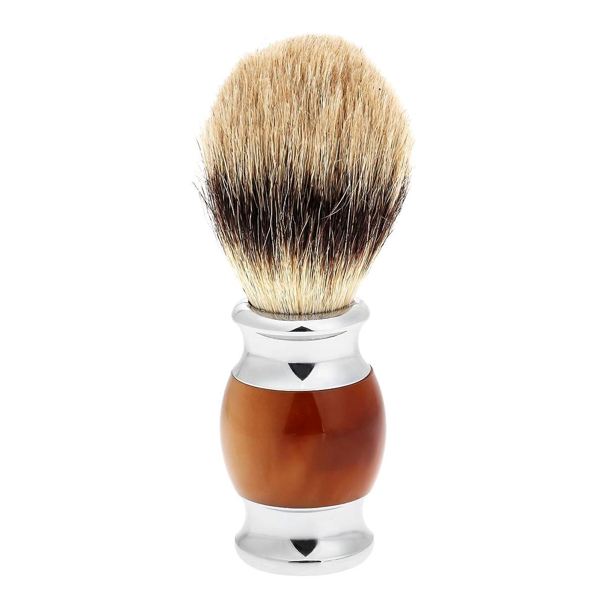 戦術側溝接触1PC メンズ ひげブラシ アナグマ毛 シェービングブラシ バーバー シェービング用ブラシ 理容 洗顔 髭剃り