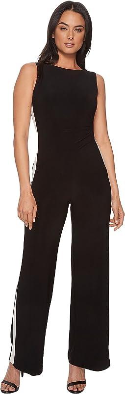 Shah Two-Tone Matte Jersey Jumpsuit