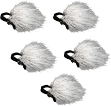 Movo WS10n 5 Pack Universal Furry Lavalier Microphone Windscreen Muff for Movo, Shure, Rode, and 8-13 mm Lapel Mics