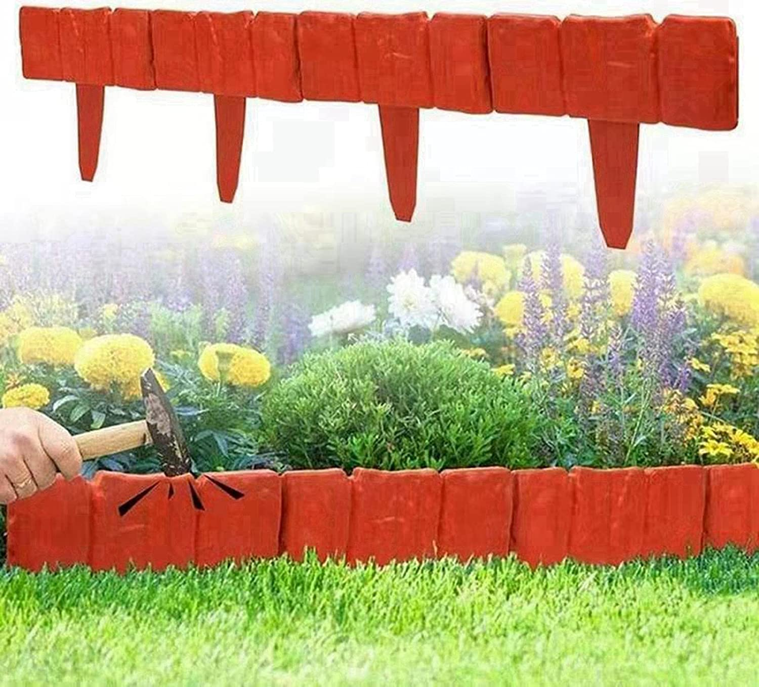 WYNH Lawn Edging and Spring new work one after another Landscape Decorative Flower DIY Border store Gras