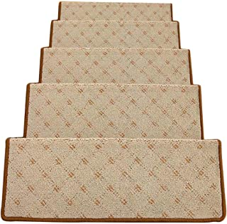 JIAJUAN Rectangle Stair Carpet Treads Durable Protection Stairs Floor Mats Home, 3 Colors, 4 Sizes (Color : A-1 pcs, Size ...