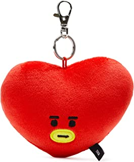 BT21 Official Merchandise by Line Friends - TATA Character Plush Doll Face Keychain Ring with Mirror Handbag Accessories