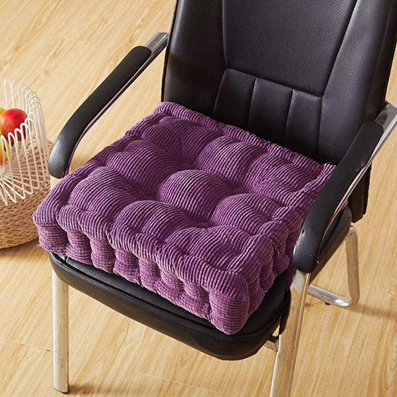 QY LA Thicken Tatami Comfort Seat Pad Office Chairs Recliner Wheelchair Rise Cushion Flooring Booster Cushion B 50x50cm 20x20inch