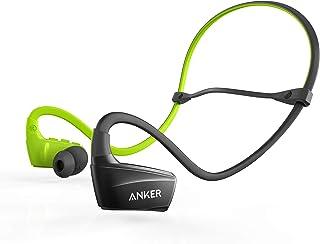 Fone de Ouvido sem Fio Anker SoundBuds Sport NB10, IPX5 Resistente à Água, Ajuste FitClip, Preto com Verde