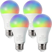 FLSNT Smart Light Bulbs,LED WiFi 2.4G RGBCW Color Changing Light Bulb,Works with Alexa,Google Home Assistant,9W(60W Equiva...