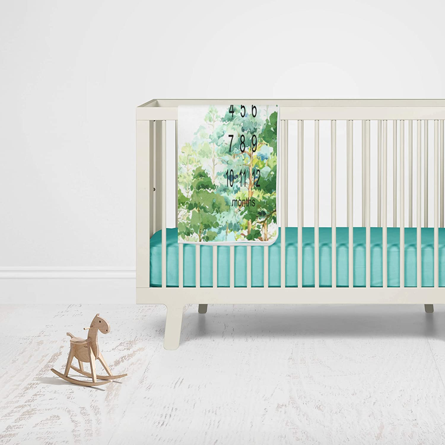 Personalized Baby Blanket Adventure Nature Growth Tracker Adventure Awaits Baby Milestone Blanket Forest Trees Monthly Tracker Blanket