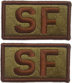 2 PACK of USAF Security Forces OCP Patch - Spice Brown - Air Force SF Patch