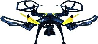 National Geographic Drohne Quadrocopter Explorer Cam mit Action Cam und Smartphone Halterung und vorinstallierten Kunstflugfiguren über Knopfdruck