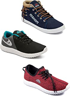 Asian Men's Casual Shoes Combo Pack of 3-0301-M606