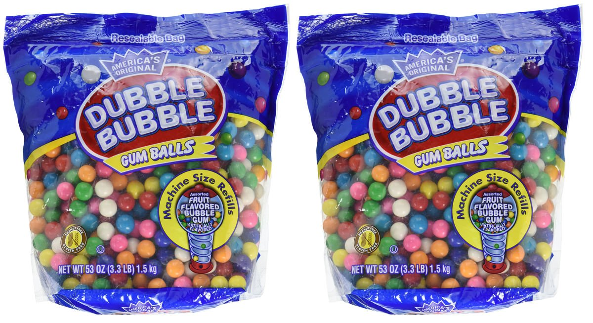 Dubble Bubble Gumball 40% OFF Cheap Sale Refill 8 Flavors 2 Sale price Pack Of lbs 3.3