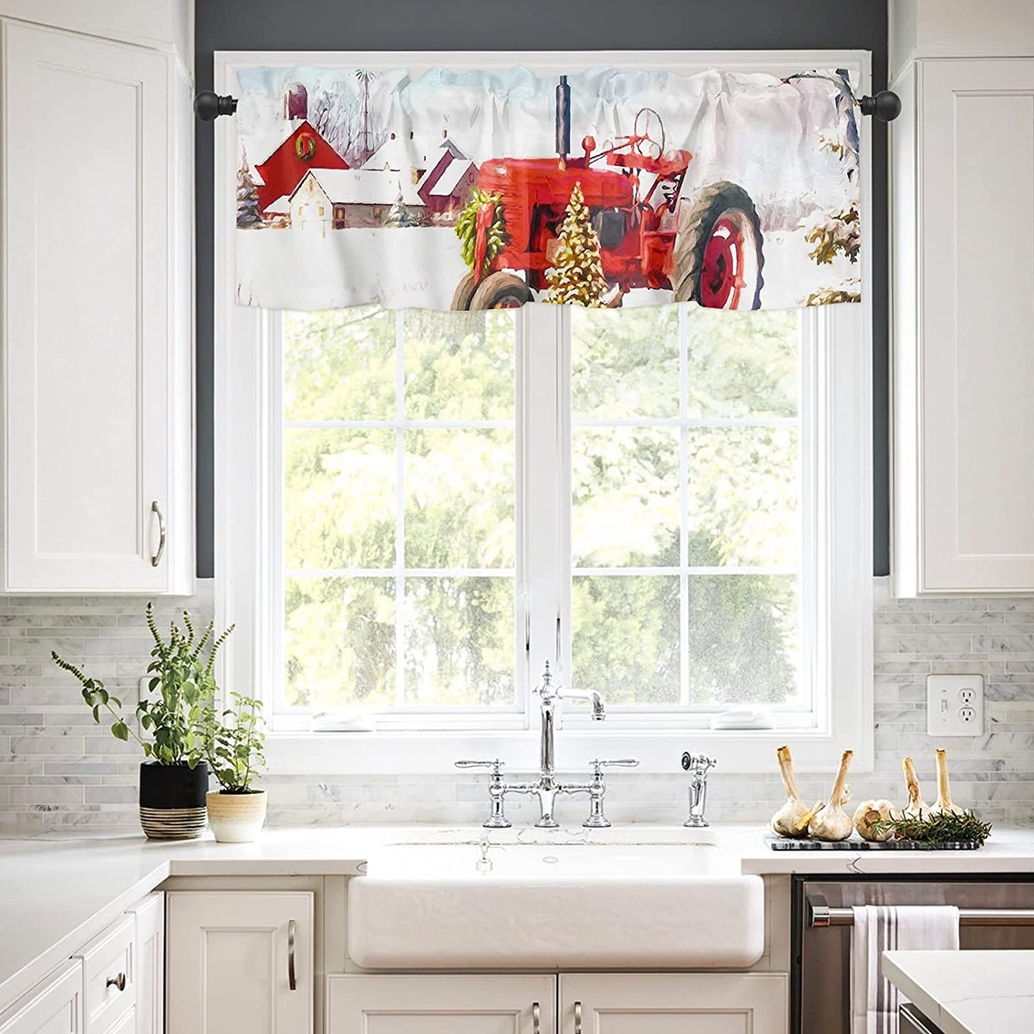 Rod Pocket Window Valances Curtains for Christmas Kitchen R Tree Our shop most Popular brand popular