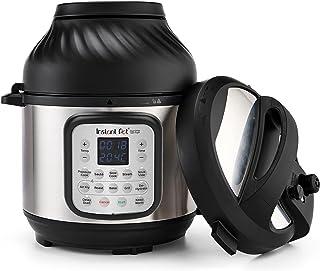 Instant Pot Duo Crisp 5,7 l + Air Fryer 11-in-1 elektrische multikoker – snelkookpan, heteluchtfriteuse, slow cooker, stoo...