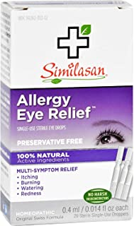Similasan Homeopathic Allergy Eye Relief Single Use Sterile Eye Drops - 20 per Pack - 1 Each.