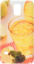 Apfelschorle im Glas mit Eiswrfeln cell phone cover case Samsung S5