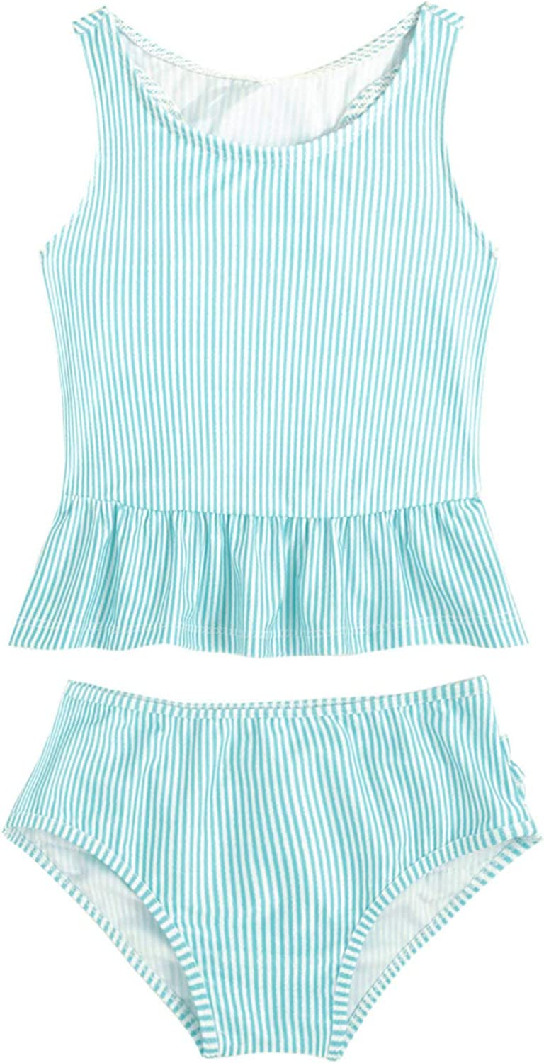 Hansber Infant Baby Girls Stripe Tankini Super special price Print Swimsui Mail order cheap Piece Two