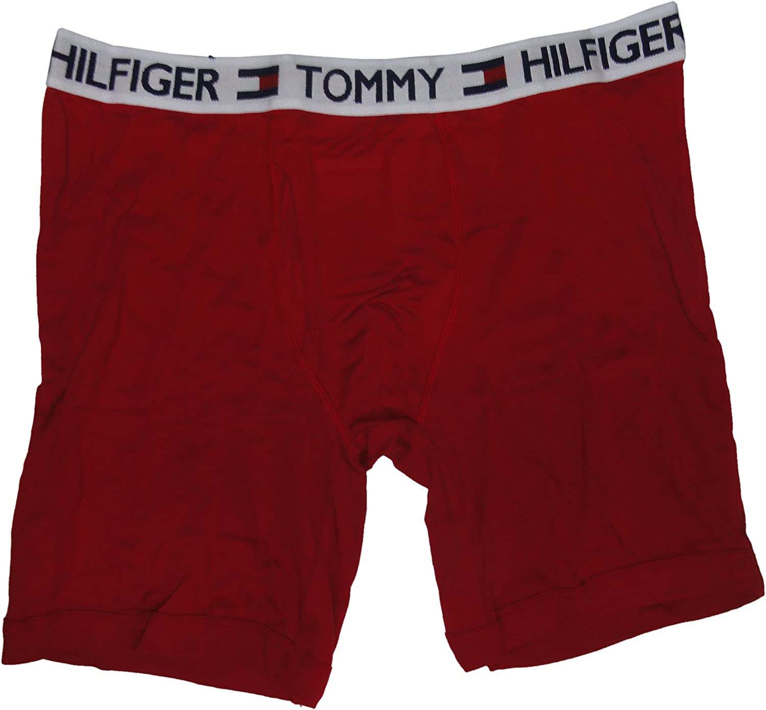 Tommy Hilfiger Men's Classic Boxer Briefs, Small 28-30, Red/Black, (Pack of 2)