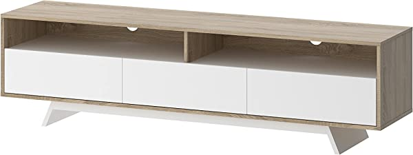 Tvilum 70047ak49 Match TV Stand Oak Structure White