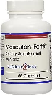 Masculon-Forte, Testosterone Formula with Zinc, Milk Thistle Seed, Resveratrol, Alpha Lipoic Acid, N-Acetyl Cysteine 56 Capsules