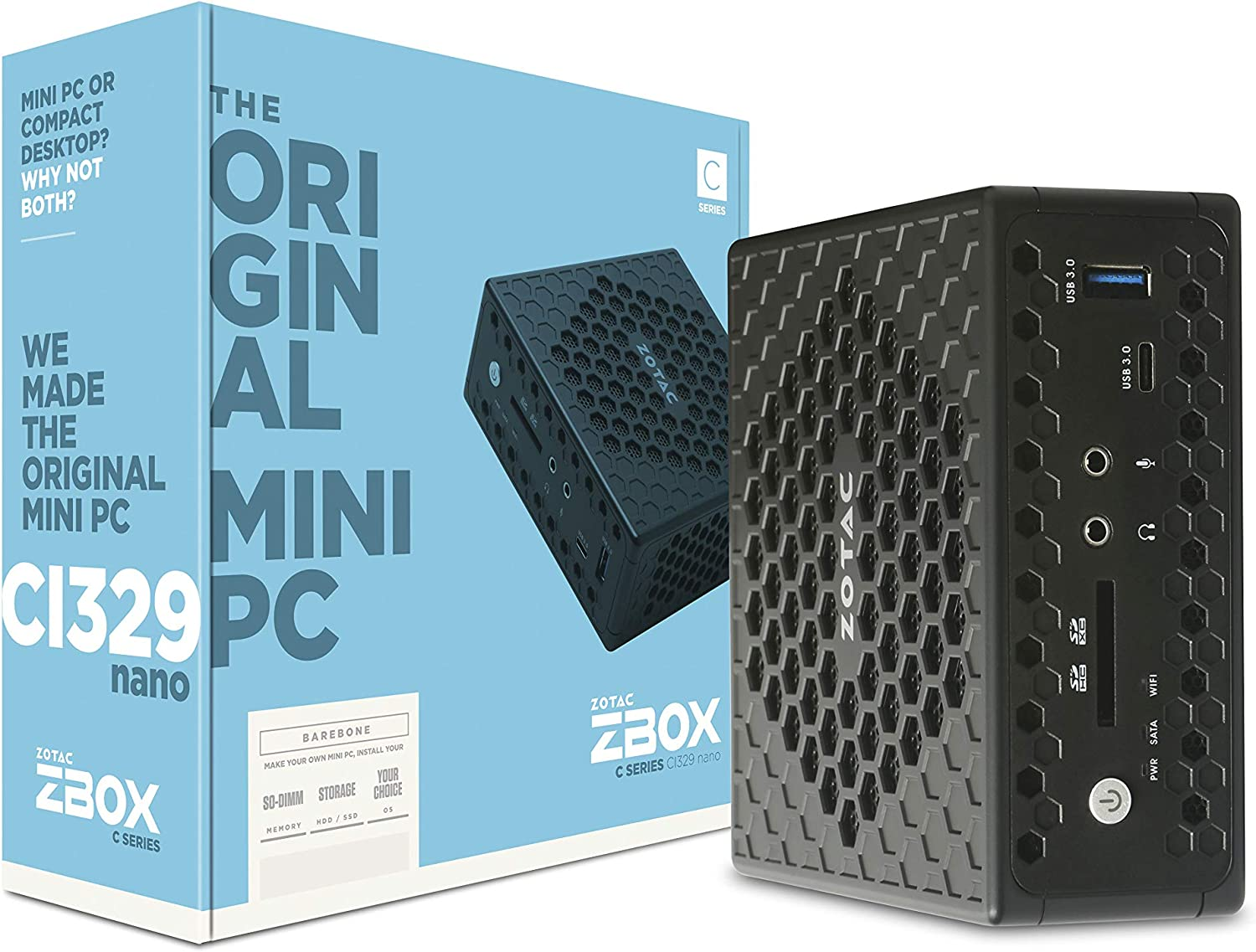ZOTAC ZBOX CI329 Nano Silent Mini Intel CPU N4100 Ranking TOP12 Graphic UHD Sales of SALE items from new works PC