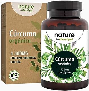 Cúrcuma Curcumina Orgánica de 4602 mg con Pimienta Negra (Piperina) - 240 Cápsulas veganas de Alta Resistencia de Turmeric - Hecho en Alemania