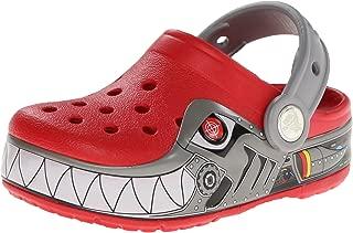Crocs Kids' Robo Shark PS Light-up Clog (Toddler/Little Kid),Red/Silver,12 M US Little Kid