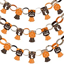 Big Dot of Happiness Gone Hunting - 90 Chain Links and 30 Paper Tassels Decoration Kit - Deer Hunting Camo Baby Shower or Birthday Party Paper Chains Garland - 21 feet