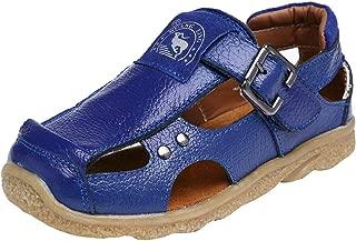 DADAWEN Boy's Girl's Athletic Summer Leather Outdoor Closed-Toe Strap Sandal(Toddler/Little Kid/Big Kid)