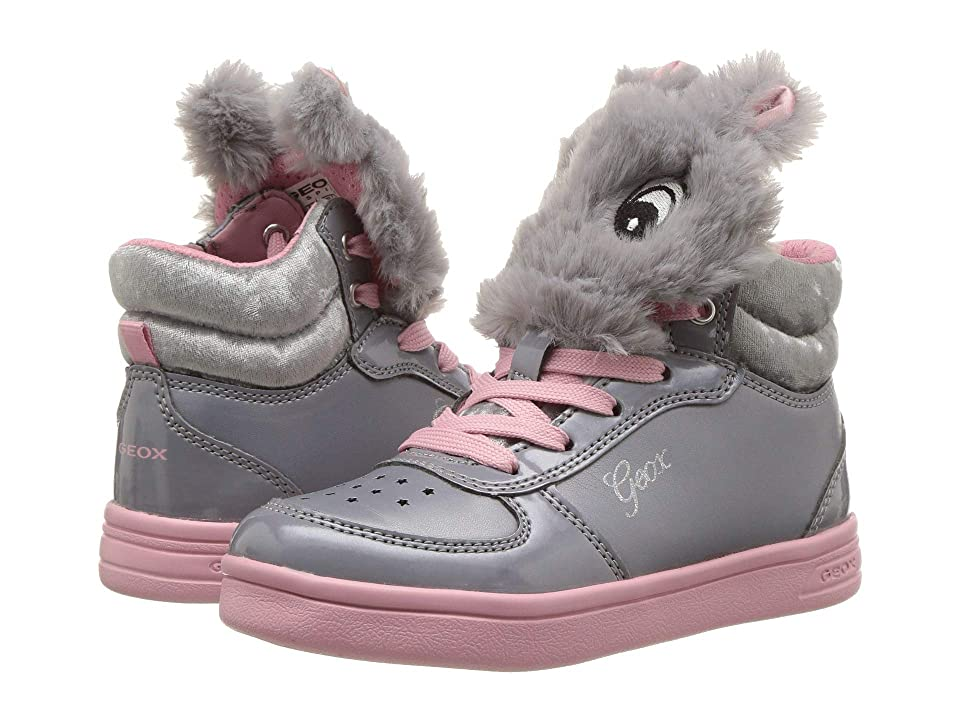 Geox Kids DJ Rock Girl 15 (Toddler/Little Kid) (Grey/Pink) Girl