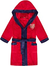 Arsenal FC Official Football Gift Boys Hooded Fleece Dressing Gown Robe