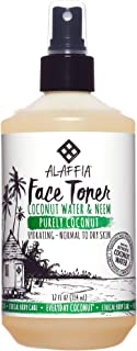 Alaffia - Purely Coconut Face Toner, Normal to Dry Skin, Refreshing Help to Hydrate and Balance Skin with Neem, Papaya, and Lavender Oil, Fair Trade, Coconut Water and Neem, 12 Ounces